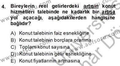 Gayrimenkul Yönetiminde Mesleki Etik Dersi 2013 - 2014 Yılı Dönem Sonu Sınavı 4. Soru