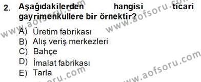 Gayrimenkul Yönetiminde Mesleki Etik Dersi 2014 - 2015 Yılı Dönem Sonu Sınavı 2. Soru