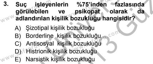 Yaşlı Bakımı Bölümü 1. Yarıyıl Aile Yapısı ve İlişkileri Dersi 2013 Yılı Güz Dönemi Ara Sınavı 3. Soru