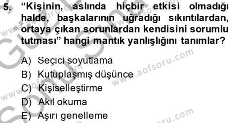 Ev İdaresi Bölümü 1. Yarıyıl Aile Yapısı ve İlişkileri Dersi 2015 Yılı Güz Dönemi Dönem Sonu Sınavı 5. Soru