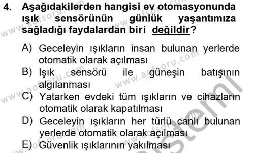 Ev İdaresi Bölümü 2. Yarıyıl Ev Teknolojisi Dersi 2013 Yılı Bahar Dönemi Ara Sınavı 4. Soru
