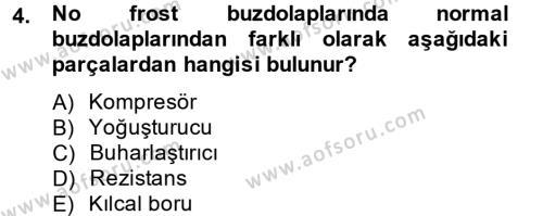 Ev İdaresi Bölümü 2. Yarıyıl Ev Teknolojisi Dersi 2013 Yılı Bahar Dönemi Dönem Sonu Sınavı 4. Soru