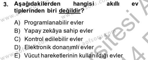 Ev İdaresi Bölümü 2. Yarıyıl Ev Teknolojisi Dersi 2014 Yılı Bahar Dönemi Ara Sınavı 3. Soru