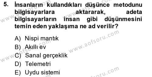 Ev İdaresi Bölümü 2. Yarıyıl Ev Teknolojisi Dersi 2014 Yılı Bahar Dönemi Ara Sınavı 5. Soru
