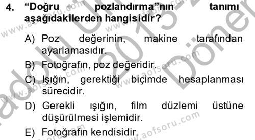 Ev İdaresi Bölümü 2. Yarıyıl Ev Teknolojisi Dersi 2014 Yılı Bahar Dönemi Dönem Sonu Sınavı 4. Soru