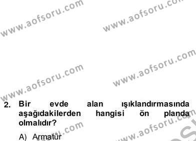 Ev İdaresi Bölümü 2. Yarıyıl İş Etüdü Dersi 2013 Yılı Bahar Dönemi Ara Sınavı 2. Soru