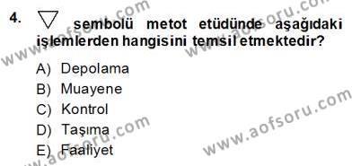 Ev İdaresi Bölümü 2. Yarıyıl İş Etüdü Dersi 2014 Yılı Bahar Dönemi Dönem Sonu Sınavı 4. Soru