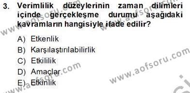Ev İdaresi Bölümü 2. Yarıyıl İş Etüdü Dersi 2014 Yılı Bahar Dönemi Tek Ders Sınavı 3. Soru