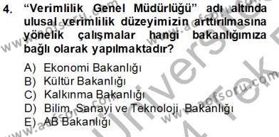 Ev İdaresi Bölümü 2. Yarıyıl İş Etüdü Dersi 2014 Yılı Bahar Dönemi Tek Ders Sınavı 4. Soru