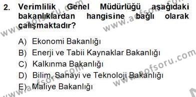 Ev İdaresi Bölümü 2. Yarıyıl İş Etüdü Dersi 2015 Yılı Bahar Dönemi Ara Sınavı 2. Soru