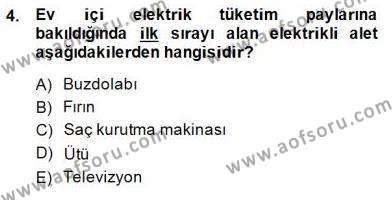Ev İdaresi Bölümü 2. Yarıyıl İş Etüdü Dersi 2015 Yılı Bahar Dönemi Ara Sınavı 4. Soru