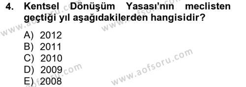 Konut Seçimi ve Düzenlenmesi Dersi 2012 - 2013 Yılı Ara Sınavı 4. Soru