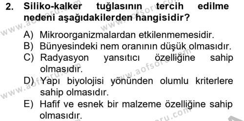 Ev İdaresi Bölümü 2. Yarıyıl Konut Seçimi ve Düzenlenmesi Dersi 2013 Yılı Bahar Dönemi Dönem Sonu Sınavı 2. Soru
