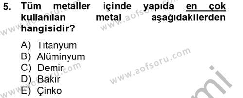 Ev İdaresi Bölümü 2. Yarıyıl Konut Seçimi ve Düzenlenmesi Dersi 2013 Yılı Bahar Dönemi Dönem Sonu Sınavı 5. Soru