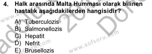 Ev İdaresi Bölümü 2. Yarıyıl Genel Beslenme Dersi 2013 Yılı Bahar Dönemi Dönem Sonu Sınavı 4. Soru