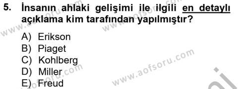 Ev İdaresi Bölümü 2. Yarıyıl Çocuk ve Ergen Bakımı Dersi 2013 Yılı Bahar Dönemi Ara Sınavı 5. Soru