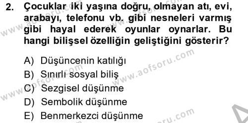 Çocuk ve Ergen Bakımı Dersi 2014 - 2015 Yılı Ara Sınavı 2. Soru