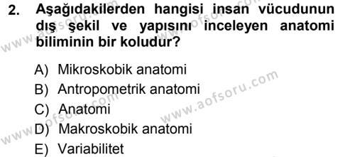 Ev İdaresi Bölümü 3. Yarıyıl Giysi Seçimi Dersi 2013 Yılı Güz Dönemi Ara Sınavı 2. Soru