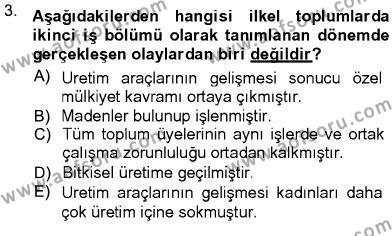 Ev İdaresi Bölümü 3. Yarıyıl Toplumsal Yaşamda Aile Dersi 2013 Yılı Güz Dönemi Ara Sınavı 3. Soru
