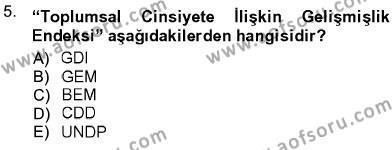 Ev İdaresi Bölümü 3. Yarıyıl Toplumsal Yaşamda Aile Dersi 2013 Yılı Güz Dönemi Ara Sınavı 5. Soru