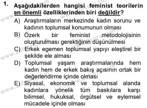 Ev İdaresi Bölümü 3. Yarıyıl Toplumsal Yaşamda Aile Dersi 2013 Yılı Güz Dönemi Dönem Sonu Sınavı 1. Soru