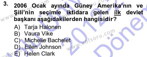 Ev İdaresi Bölümü 3. Yarıyıl Toplumsal Yaşamda Aile Dersi 2013 Yılı Güz Dönemi Dönem Sonu Sınavı 3. Soru