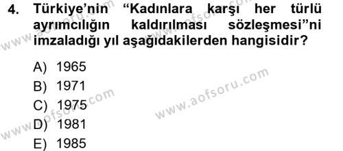 Ev İdaresi Bölümü 3. Yarıyıl Toplumsal Yaşamda Aile Dersi 2013 Yılı Güz Dönemi Dönem Sonu Sınavı 4. Soru