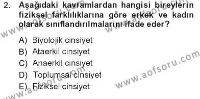 Ev İdaresi Bölümü 3. Yarıyıl Toplumsal Yaşamda Aile Dersi 2013 Yılı Güz Dönemi Tek Ders Sınavı 2. Soru