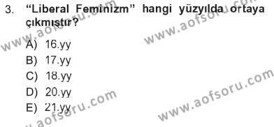 Ev İdaresi Bölümü 3. Yarıyıl Toplumsal Yaşamda Aile Dersi 2013 Yılı Güz Dönemi Tek Ders Sınavı 3. Soru