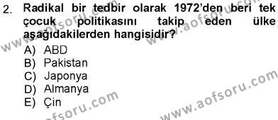 Ev İdaresi Bölümü 3. Yarıyıl Aile Ekonomisi Dersi 2013 Yılı Güz Dönemi Ara Sınavı 2. Soru
