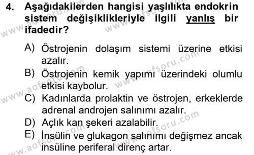 Ev İdaresi Bölümü 4. Yarıyıl Aile Sağlığı Dersi 2013 Yılı Bahar Dönemi Dönem Sonu Sınavı 4. Soru