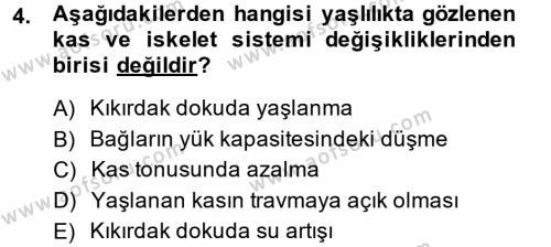 Ev İdaresi Bölümü 4. Yarıyıl Aile Sağlığı Dersi 2014 Yılı Bahar Dönemi Dönem Sonu Sınavı 4. Soru