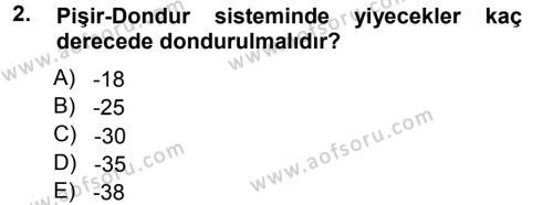 Yiyecek Üretim Temelleri Dersi 2012 - 2013 Yılı Ara Sınavı 2. Soru