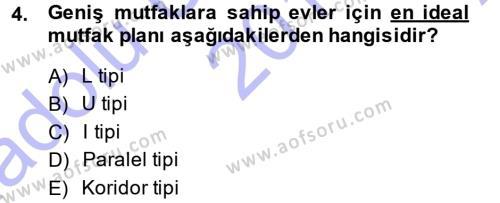 Ev İdaresi Bölümü 3. Yarıyıl Yiyecek Üretim Temelleri Dersi 2014 Yılı Güz Dönemi Ara Sınavı 4. Soru