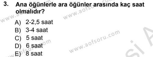 Ev İdaresi Bölümü 3. Yarıyıl Yiyecek Üretim Temelleri Dersi 2014 Yılı Güz Dönemi Tek Ders Sınavı 3. Soru