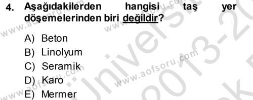 Ev İdaresi Bölümü 3. Yarıyıl Yiyecek Üretim Temelleri Dersi 2014 Yılı Güz Dönemi Tek Ders Sınavı 4. Soru