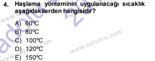 Ev İdaresi Bölümü 3. Yarıyıl Yiyecek Üretim Temelleri Dersi 2015 Yılı Güz Dönemi Ara Sınavı 4. Soru