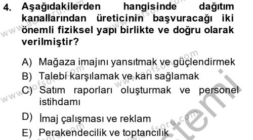 Ev İdaresi Bölümü 4. Yarıyıl Moda Tasarım Dersi 2014 Yılı Bahar Dönemi Ara Sınavı 4. Soru