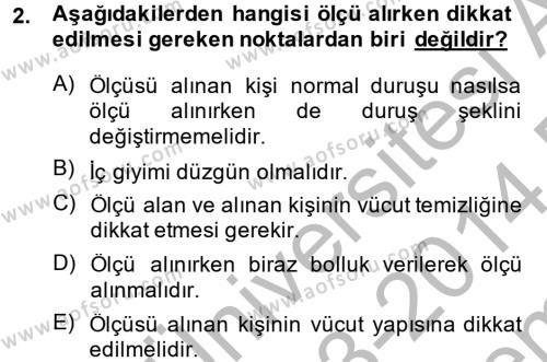 Ev İdaresi Bölümü 4. Yarıyıl Moda Tasarım Dersi 2014 Yılı Bahar Dönemi Dönem Sonu Sınavı 2. Soru