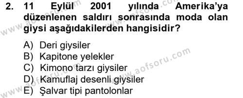 Ev İdaresi Bölümü 4. Yarıyıl Moda Tasarım Dersi 2014 Yılı Bahar Dönemi Tek Ders Sınavı 2. Soru