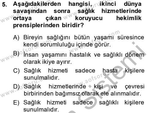 Ev İdaresi Bölümü 4. Yarıyıl Sağlıklı Yaşam Dersi 2015 Yılı Bahar Dönemi Ara Sınavı 5. Soru
