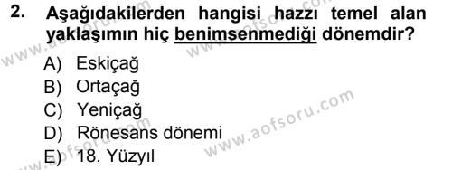 Etik Dersi 2013 - 2014 Yılı (Final) Dönem Sonu Sınav Soruları 2. Soru