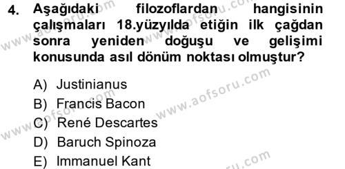 Etik Dersi 2014 - 2015 Yılı (Vize) Ara Sınav Soruları 4. Soru