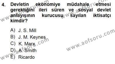 Felsefe Bölümü 3. Yarıyıl Yurttaşlık ve Çevre Bilgisi Dersi 2013 Yılı Güz Dönemi Dönem Sonu Sınavı 4. Soru