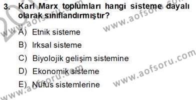 Yurttaşlık ve Çevre Bilgisi Dersi 2013 - 2014 Yılı Ara Sınavı 3. Soru