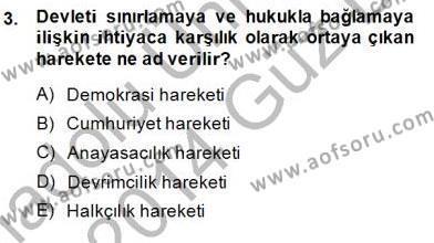 Yurttaşlık ve Çevre Bilgisi Dersi 2013 - 2014 Yılı (Final) Dönem Sonu Sınav Soruları 3. Soru
