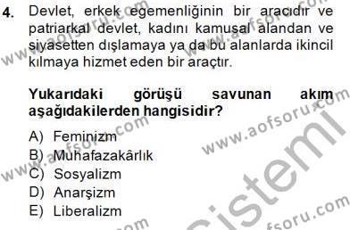 Yurttaşlık ve Çevre Bilgisi Dersi 2014 - 2015 Yılı Ara Sınavı 4. Soru