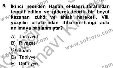 Felsefe Bölümü 4. Yarıyıl Ortaçağ Felsefesi II Dersi 2014 Yılı Bahar Dönemi Ara Sınavı 5. Soru