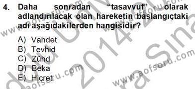 Ortaçağ Felsefesi 2 Dersi 2014 - 2015 Yılı (Vize) Ara Sınav Soruları 4. Soru
