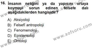 Siyaset Felsefesi 1 Dersi 2012 - 2013 Yılı Dönem Sonu Sınavı 16. Soru 1. Soru